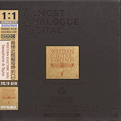 Sam Taylor - Western Electric Sound: Saxophone & Taylor (24K Gold AAD CD)