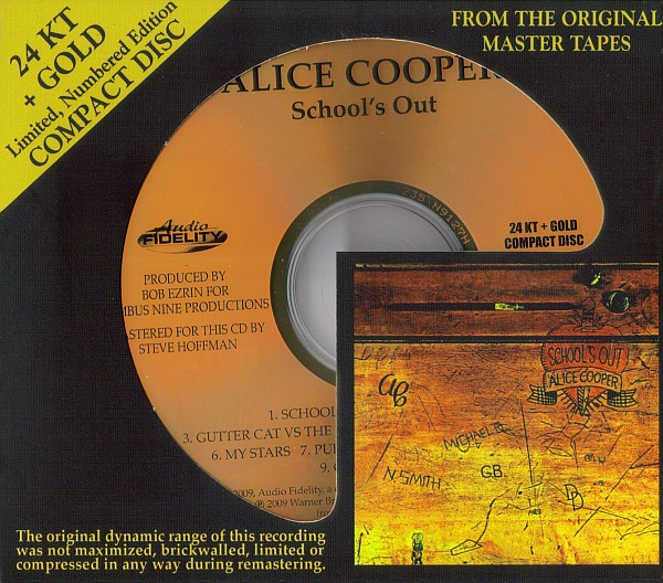 Alice Cooper - School's Out (24 KT Gold CD)